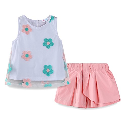 Mud Kingdom Little Girl Boutique Clothing Sets Summer Size 6 Sunflower -