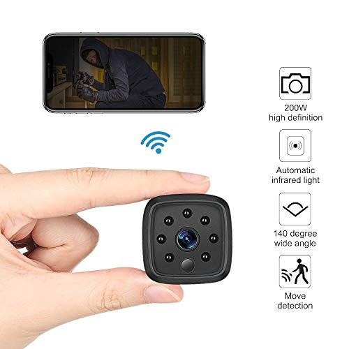 WiFi Camera,Ansteker 1080P Mini Portable Wireless WiFi Security Camera with IR Night Vision Motion Detection Nanny Cam Security Monitoring