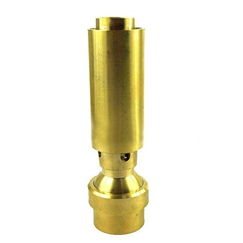 1.0'' DN25 Air Added Bubbling Fountain Nozzle Brass Head Pond Garden Sprinkler by Ground Sprinklers