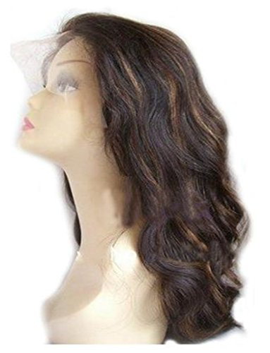 Remeehi Stock Wig 12 Inches Natural Wavy 100% Brazilian Human Hair Lace Front Wigs Color 4/27#