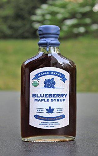 MAPLE CRAFT Organic Blueberry Maple Syrup, 6.8 OZ