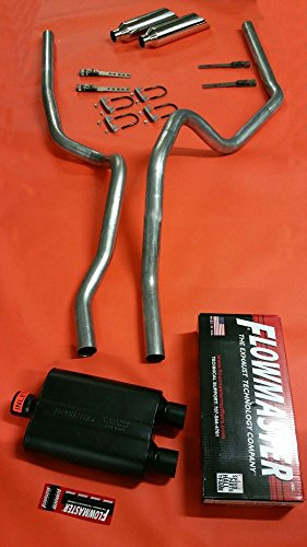 2006 - 2008 Dodge Ram 1500 Truck Dual Mandrel Exhaust Conversion Kit with Flowmaster (Cat Back Conversion)