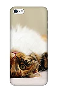 MWBkvC-3000-DuEFe Standinmyside Animal Cat Cute Durable Iphone 5c Tpu Flexible Soft Case With Design
