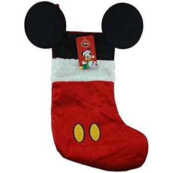 disney mouse ears 18 velour christmas stocking with plush cuff mickey mouse red