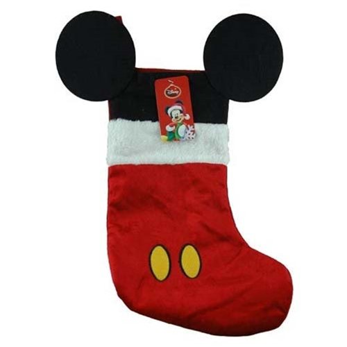 Disney Mouse Ears 18 Velour Christmas Stocking with Plush Cuff (Mickey Mouse - Red)