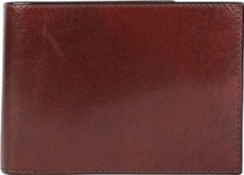 Bosca Men's Old Leather Credit Wallet with I.D. Passcase Billfolds,Dark Brown (Wallet Bosca Bi Fold)