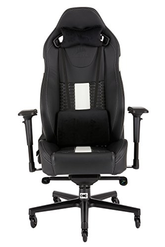 Corsair CF-9010007 WW T2 Road Warrior Gaming Chair Comfort Design, Black/White
