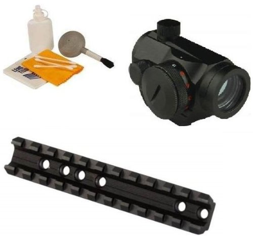 Ultimate Arms Gear Marlin Rifle Deluxe Scope Mount + Micro Mini Compact 1x20 Dual Illuminated Green & Red Dot Reflex 20mm Sight Integral Weaver Picatinny Mount Base (Deluxe Red Dot Sights)