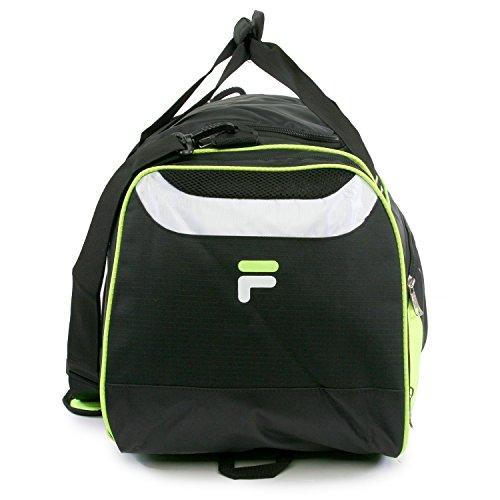 "415CXCByVLL - Fila Acer 25"" Sport Duffel Bag, Black/Neon Green"