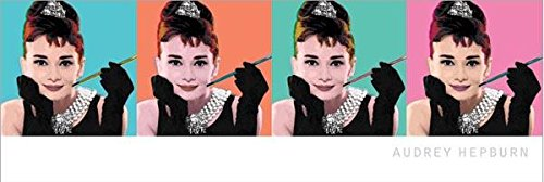 Audrey Hepburn-Pop Art, Movie Slim Poster Print