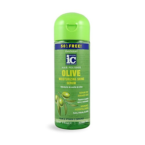 Fantasia IC Hair Polisher with Olive Oil Moisturizing Shine Serum, 6 Ounce