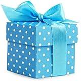10 pequeñas cajas de regalo, color azul
