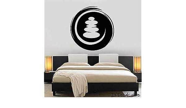 jiushixw SPA Salon Budismo Pegatinas de Pared Círculo Zen Tatuajes ...