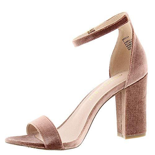 Madden Girl Beella Womens Sandal 10 B(M) US Blush-Velvet