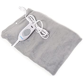 Milliard Electric Therapy Heating Pad for Fast Pain Relief - Gray - 15in x 12in