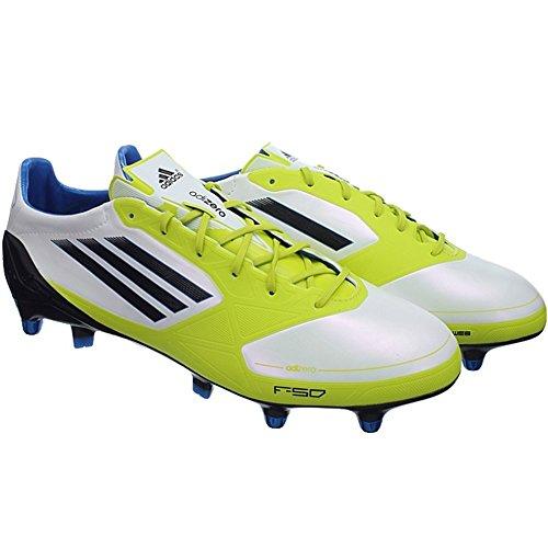 Adidas F50 adizero XTRX SG Syn V21452 Fußballschuhe Stollen Herren Weiß Gelb