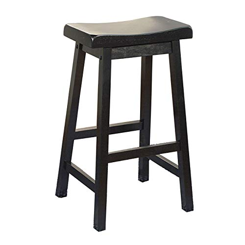 (Target Marketing Systems 30-Inch Arizona Wooden Saddle Stool, Black)