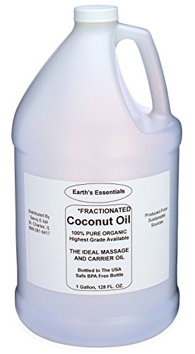 One Gallon Of 100% Pure Organic Fractionated Coconut Oil From Earth's Essentials