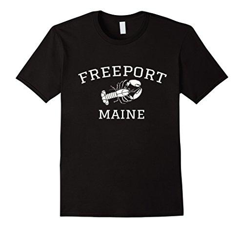 Mens Freeport Maine T-shirt - Lobster Medium - Freeport Shops Maine
