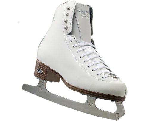 Riedell  133 Diamond Skating Boots, White, 5.5 Medium by Riedell