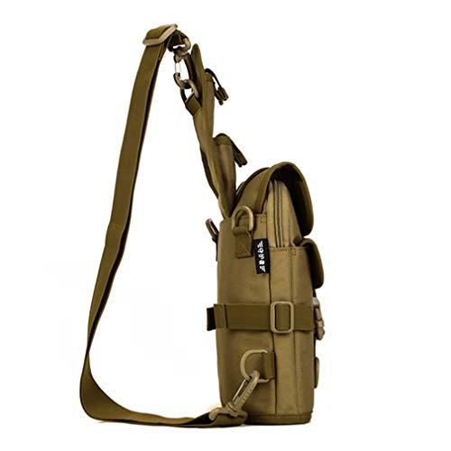 Crossbody Khaki Nylon Shoulder Men Chest Sling Messenger Bag Waterproof 1000d Hw0gSO
