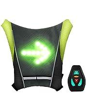 shenkey Gilet de Cyclisme à LED, Gilet réfléchissant à LED avec indicateur de Direction - Télécommande, Feux de Direction, Rechargeable par USB, Installation Facile pour témoin de sécurité à vélo