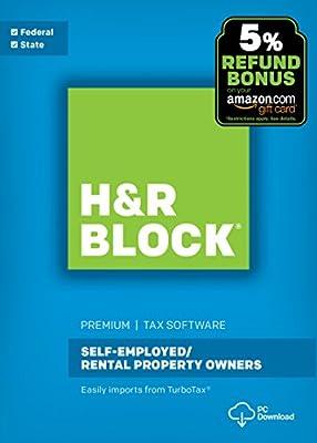 H&R Block Tax Software Premium 2017