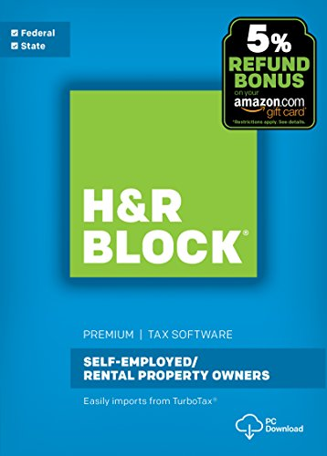 Software : H&R Block Tax Software Premium 2017 with 5% Refund Bonus Offer [PC Download]
