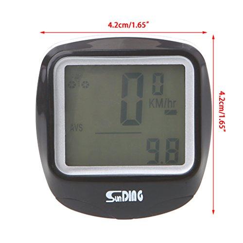 ULKEME Bike Computer Waterproof Wireless Cycling Speedometer Odometer with LCD Luminous