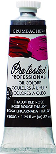 (Grumbacher Pre-Tested Oil Paint, 37ml/1.25 Ounce, Thalo Red Rose (P208G))