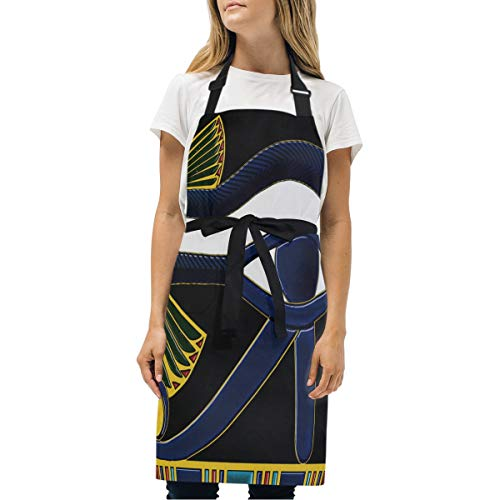 HJudge Womens Aprons Pinterest Kitchen Bib Aprons with Pockets Adjustable Buckle on -