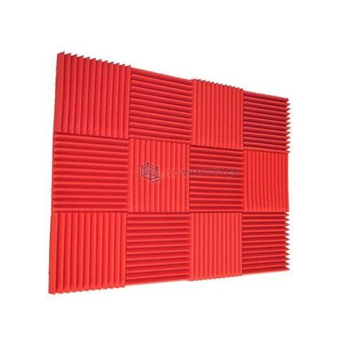 12 Pack All Red Acoustic Foam Sound Proof Foam Acoustic Panels Nosie Dampening Foam Studio Soundproofing Padding 1