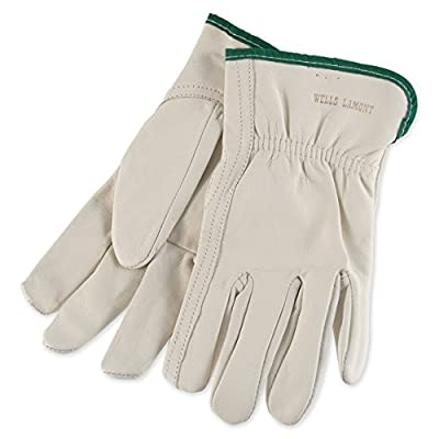 Mens Goatskin Leather Work Gloves by Wells Lamont - Y0769 - XL