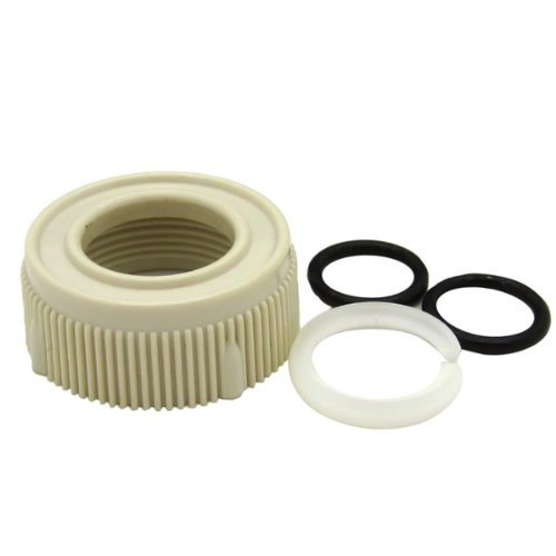 Dura Faucet (DF-RK510-BQ) RV Faucet Spout Nut and Rings Replacement Kit - Bisque Parchment - For Dura Faucet Branded Faucets Only Color: Bisque ()