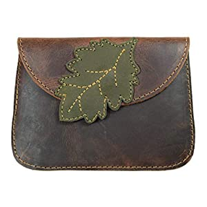 Hide & Drink, Leather Leaves Card Wallet/Pouch/Coin & Cash Organizer/Cable Holder/Phone Case/Accessories, Handmade Includes 101 Year Warranty :: Bourbon Brown