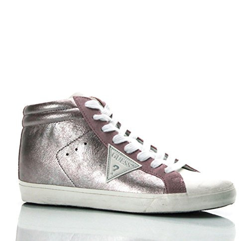 GUESS (Holly) Sneaker Pelle Satinata Glitter FLHOL1ELE12