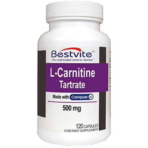 L-Carnitine (L-Carnitine Tartrate) 500mg 120 Capsules
