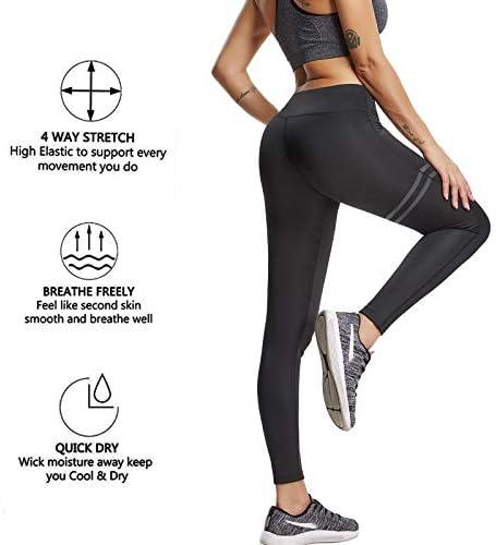 FITTOO Pantalones Deportivos Leggings Mujer Yoga de Alta Cintura Elásticos y Transpirables para Running Fitness Yoga con Gran Elásticos 5