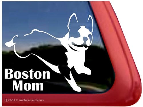 Boston Mom Jumping Terrier Sticker