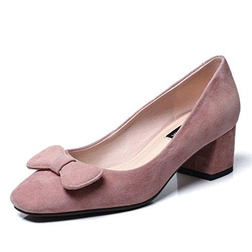 GAOLIXIA Zapatos de Mujer Zapatos de Tacones Altos Zapatos de Trabajo Four Seasons Sandalias Dulces Zapatos de Tacón Alto de Damas Zapatos de Tacón Alto Rosado