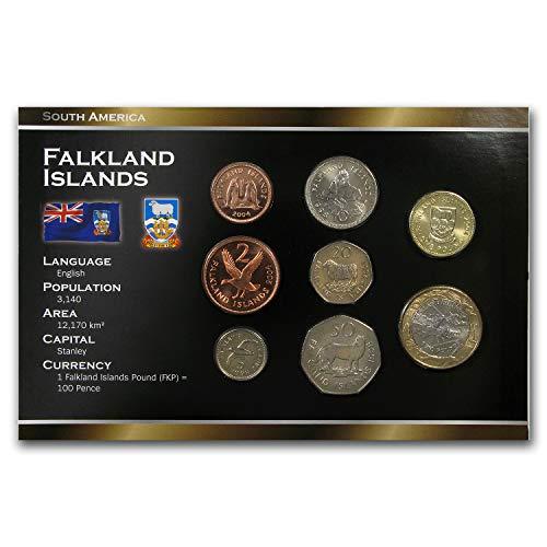(FK 2019 Falkland Islands 1 Pence - 2 Pounds 8-Coin Set BU Brilliant Uncirculated )
