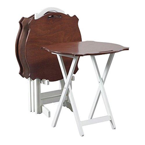 Powell Furniture 15A8088TT-2 Laptop White Folding Modern Tray Table
