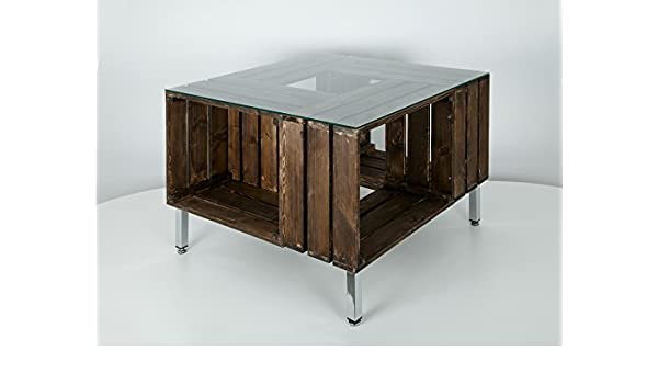 Mesa Cajas Madera: Amazon.es: Handmade