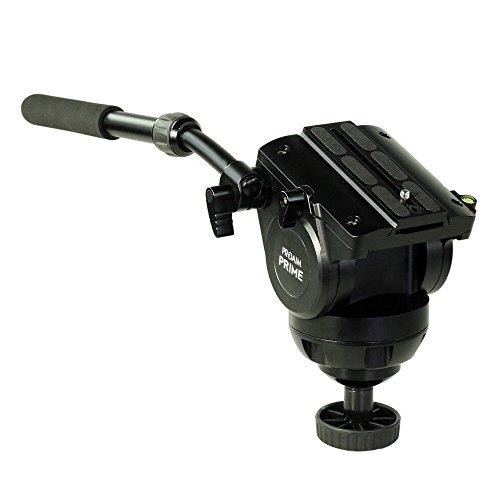 PROAIM Prime 100mm Tripod Fluid Drag Pan Tilt Head for Canon Nikon Sony DSLR Camera up to 15Kg/44lb | CNC Aluminum Construction, Includes Quick Release Plate & Portable Storage Bag (P-100FH-15MB)