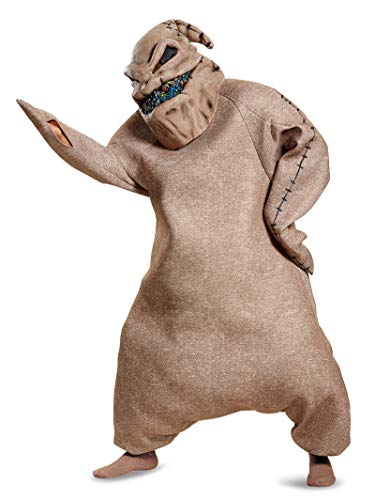 Mr Nightmare Halloween (Disguise Men's Oogie Boogie Prestige Adult Costume, Brown, XL)
