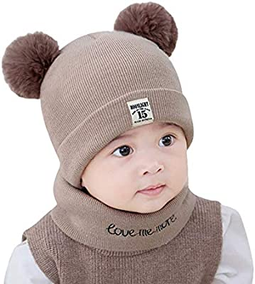 Oyedens recién Nacidos Niños bebé niña Pom Sombrero Invierno Knit ...