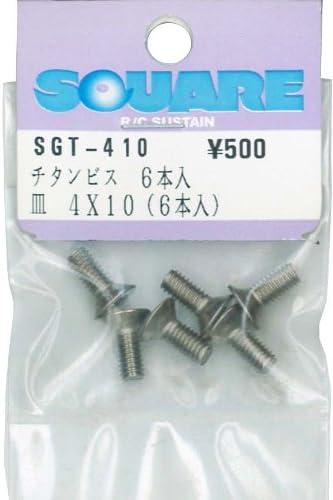 6 Pieces Square 4 /× 10 Titanium countersunk Screw SGT-410