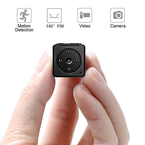 Mini Hidden Camera,Kimitech Sport Camera 1920x1080HD Video Resolution Ratio, TF Card Interface,Mini DV Camera Motion Record for Home,Outdoor Cubic Shape Design,Black
