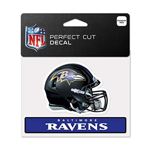 - Bek Brands Licensed Professional Football Teams 4 x 5 Cling Decal for Cars, Windows and More, Helmet (Baltimore Ravens)