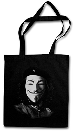 CHE ANONYMOUS GUEVARA Hipster Shopping Cotton Bag Cestas Bolsos Bolsas de la compra reutilizables - We Are Cuba Kuba Guerilla RAF Hacker Socialismo Comunismo Castro Demo Revolution